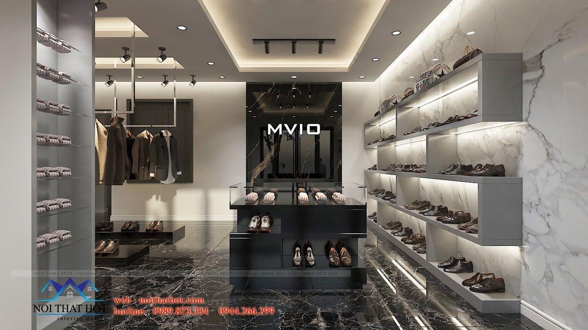 thiết kế shop thời trang nam sang trọng