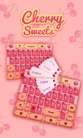Cherry Sweet GO Keyboard Theme 3.87 screenshot 1282608