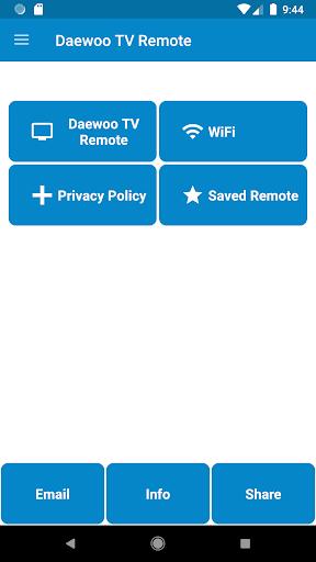 Daewoo TV Remote Control 1.1.7 screenshots 1