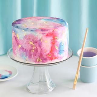 Watercolor Graffiti Chocolate Cake Recipe