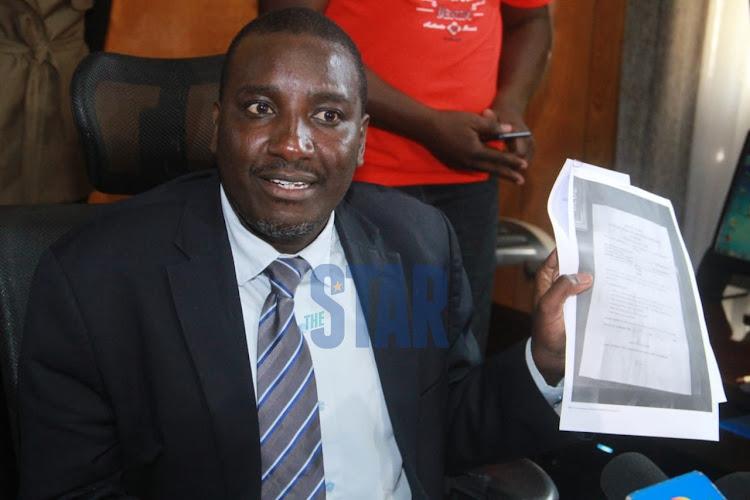 Embattled Nairobi county clerk Jacob Ngwele on July 23, 2020.