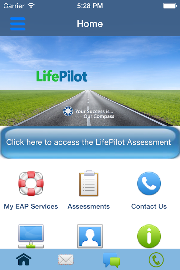 EAP LifePilot- screenshot
