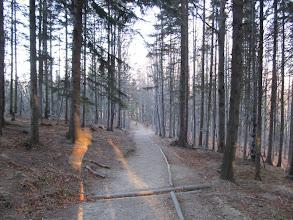Photo: 01.Startujemy zielonym szlakiem z Zawoi Markowej. Jesień w już pełni - w lasach zrobiło się łyso, na Parkingu w Zawoi Markowej przymrozek: -2 stopnie Celsjusza.