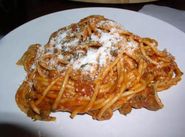 Spaghetti With Three Cheese Sweet Pepper Marinara Recipe