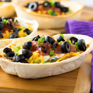 Individual Seven Layer Bean Dip Boats