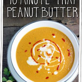 10 Minute Thai Peanut Butter & Pumpkin Soup.