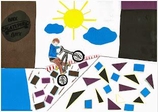 """Photo: praca Justyny """"Jeździmy rowerem, bo to frajda i zabawa"""""""