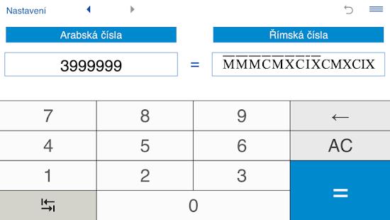 Pokročilá kalkulačka pro převod římských čísel - náhled