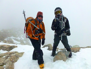 Photo: But at 1:30pm we reached the summit of Ellingwood Point (14,042') in high and cold winds