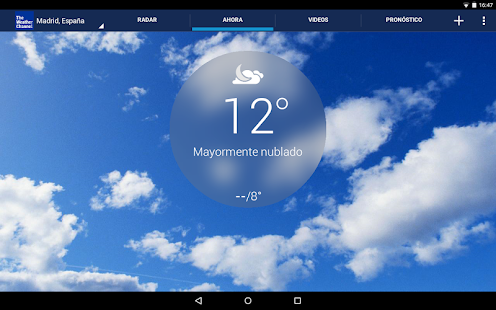 The Weather Channel: miniatura de captura de pantalla