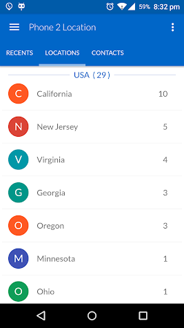 Phone 2 Location - Caller ID Mobile Number Tracker Screenshot