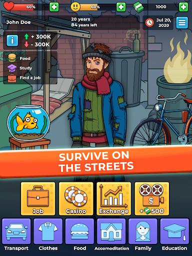 Hobo Life: Business Simulator & Money Clicker Game apkdebit screenshots 6