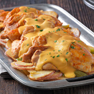 Slow-Cooker Cheesy Chicken & Potatoes.