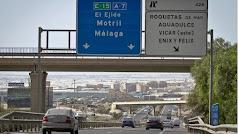Imagen de la Autovía del Mediterráneo, a su paso por la provincia de Almería.