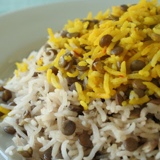 Simple Rice with Lentils (Adas Polow) عدس پلو ساده.