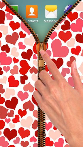Valentine Zipper Lock Screen