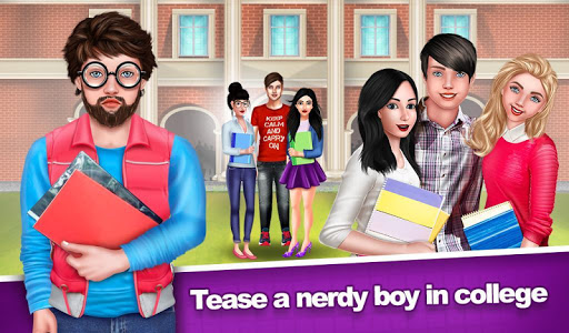 Nerdy Boy College Love Story Game  screenshots 1
