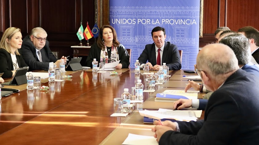 Visita a la Diputación Provincial de Almería.