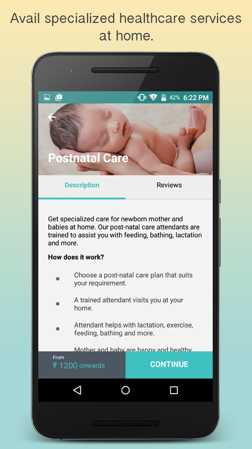Portea-Heal at Home-Health App- screenshot