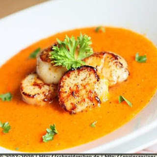 Scallops With Ginger Carrot Sauce
