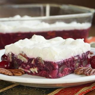 Pecan Cranberry Jello Salad.
