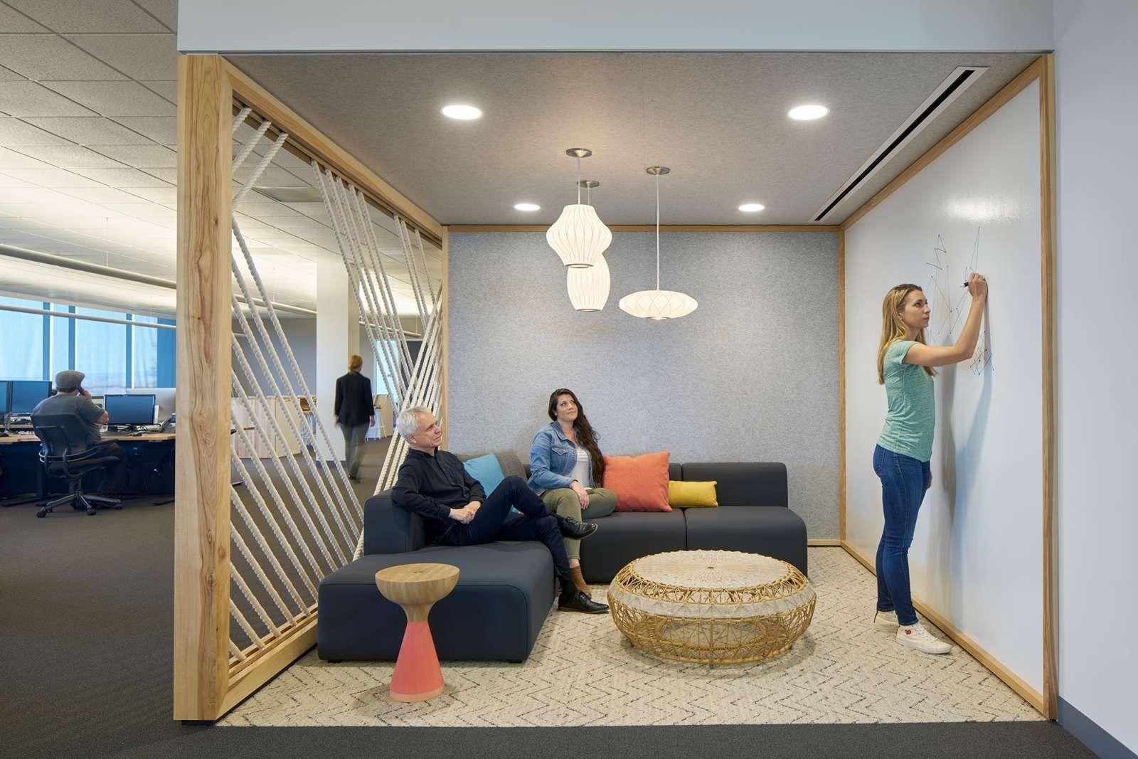 espace détente de style scandinave pour brain storming