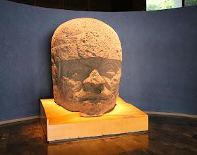 Photo: Jättiläispää, yksi monista museossa (ja näitä on joillakin alueilla Meksikossa sademetsissä vielä paljon lisää)