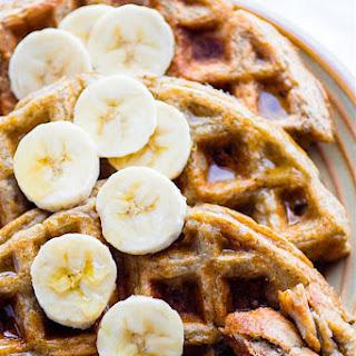 Blender Rice Banana Gluten Free Waffles {Freezer Friendly, Vegan Option}