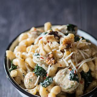 Creamy Chicken-Sausage and Spinach Pasta