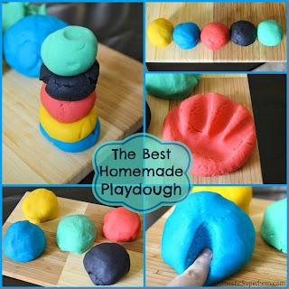The BEST Homemade Playdough.