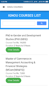 Ignou Course Finder for PC-Windows 7,8,10 and Mac apk screenshot 3