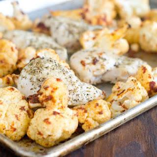 One-Dish Italian Chicken and Cauliflower.