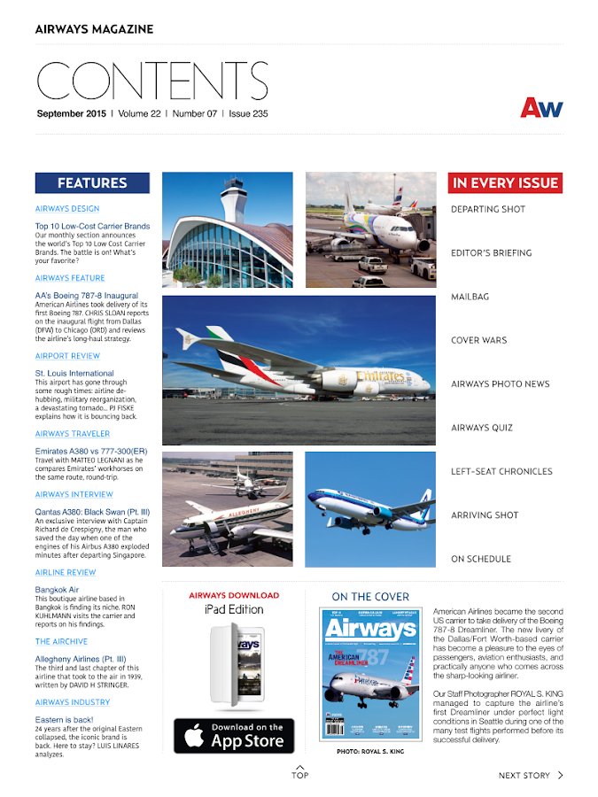 Airways Magazine- screenshot