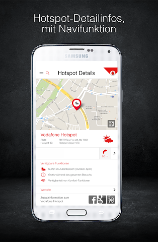 android Vodafone Hotspotfinder Screenshot 1