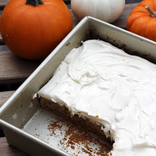 Pumpkin Brownies with Maple Cream Cheese Frosting
