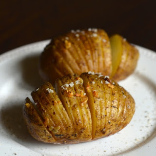 Garlic Hasselback Potatoes on the Grill