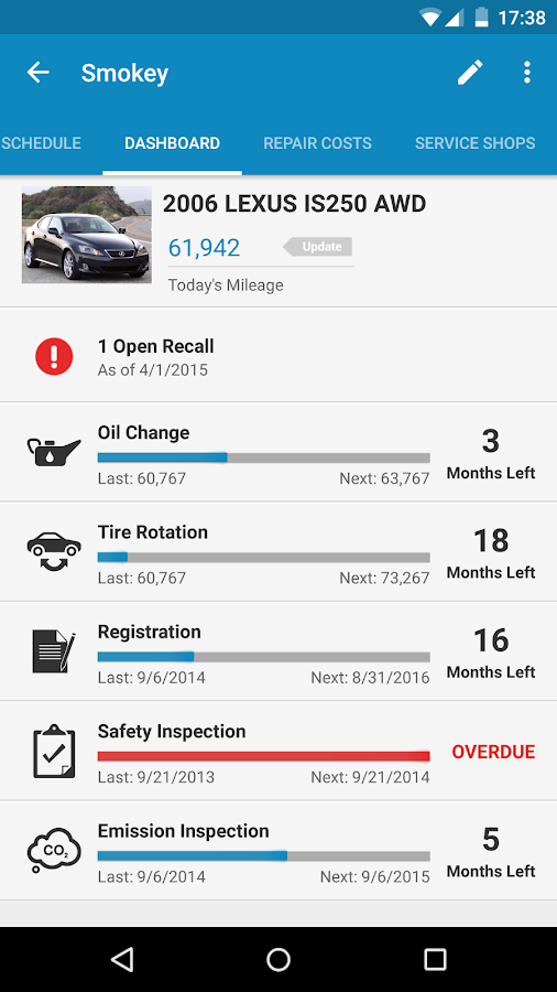 myCARFAX - Car Maintenance app - screenshot
