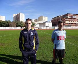 """Photo: Porteros Isla Cristina F.C. Daniel Suárez Yaque """"Dani"""" Y Abraham Santos Almagro """"Abrahan"""""""