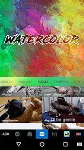 Water Color Kika Keyboard - náhled