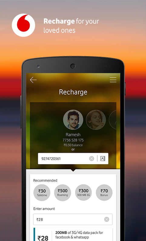 MyVodafone (India) - Recharge, Pay Bills & more.- screenshot