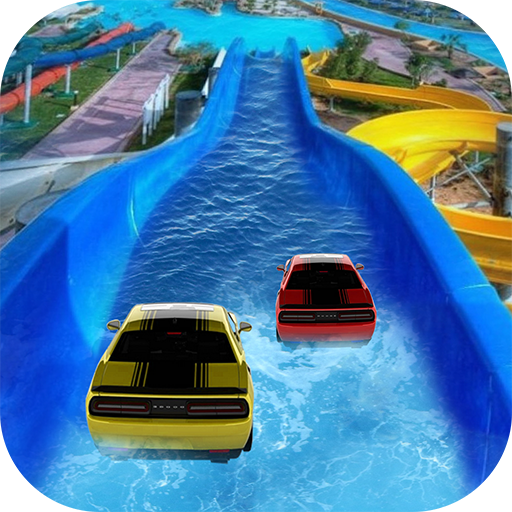 Waterpark Ride & Water Surfing Car Stunts & Slides