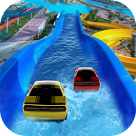 Water Slide Car Race and Stunts : Waterpark Race Icon