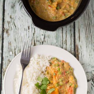 Slow Cooker Sweet Potato and Vegetable Curry Recipe