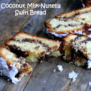 Coconut Milk-Nutella Swirl Bread
