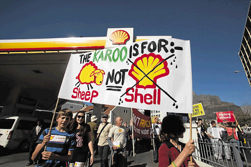 A protest march against fracking in the Karoo. File picture