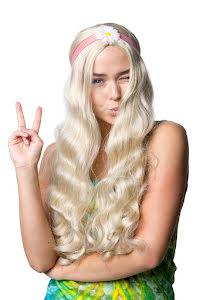 Peruk, Hippie med pannband
