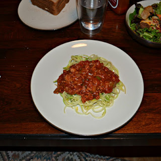 Spaghetti and Zoodles with Vegetable Bolognese Recipe