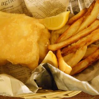 Gluten Free Beer Batter Fish & Chips.
