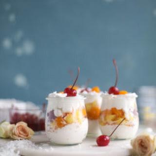 Ambrosia Whipped Yogurt Fruit Parfaits.