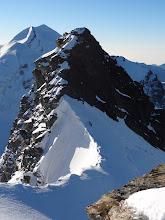 Photo: regard en arrière sur la descente en rappel du Breithorn Pointe 4106m